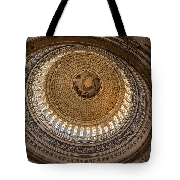 U S Capitol Rotunda Tote Bag by Steve Gadomski