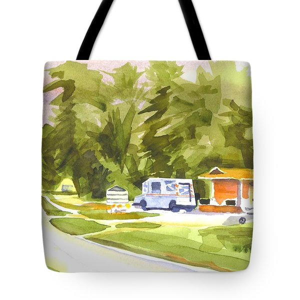 U S Mail Delivery Tote Bag by Kip DeVore