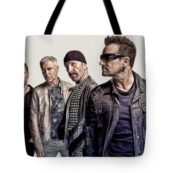 U2 Goup Tote Bag by Riccardo Zullian