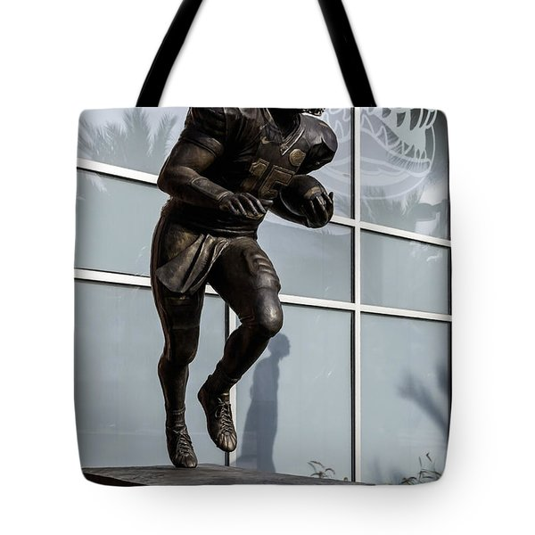 UF Heisman Winner Tim Tebow  Tote Bag by Lynn Palmer