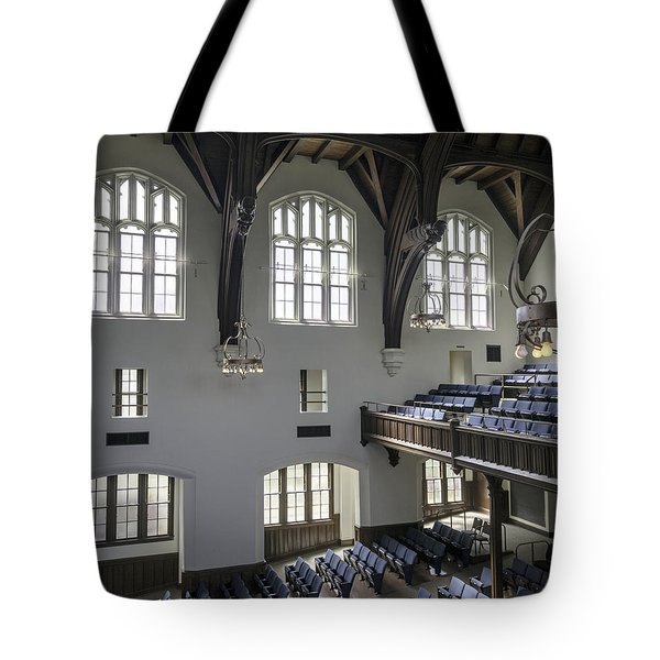 Uf University Auditorium Window And Balcony Detail Tote Bag by Lynn Palmer