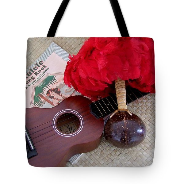 Ukulele Ipu And Songbook Tote Bag by Mary Deal