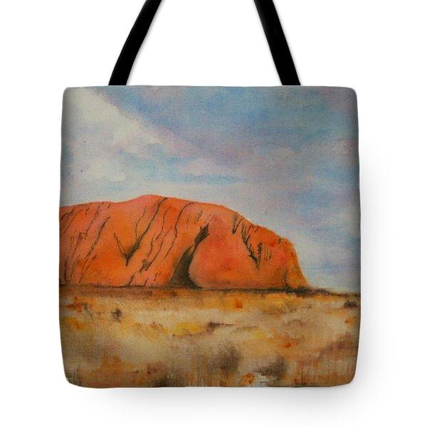 Uluru Tote Bag by Lyndsey Hatchwell