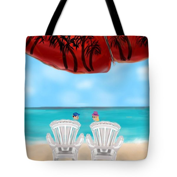 Umbrella View Tote Bag by Christine Fournier