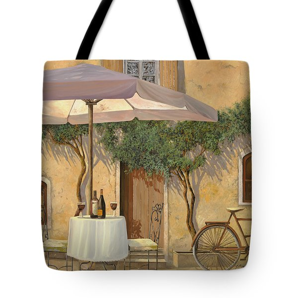 un ombra in cortile Tote Bag by Guido Borelli