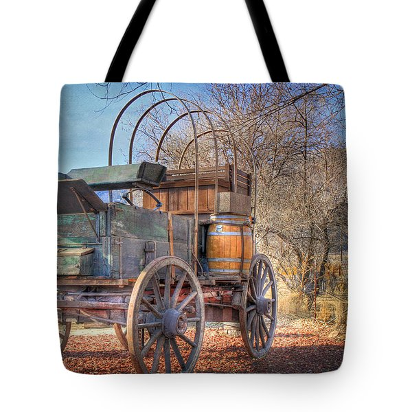 Uncovered Wagon Tote Bag by Donna Kennedy