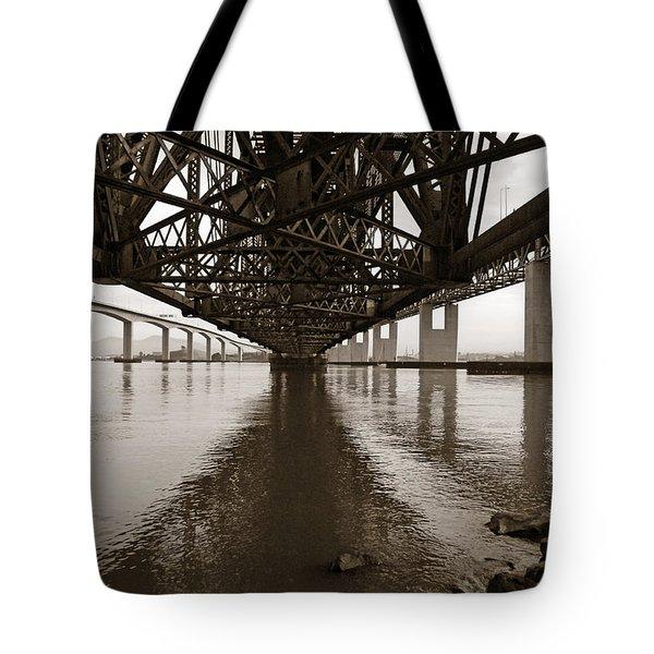 Under Bridges Tote Bag by Donna Blackhall