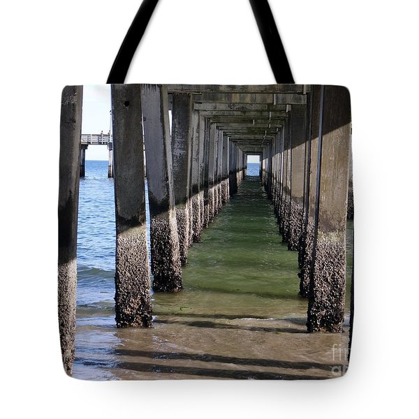 Under The Boardwalk Tote Bag by Ed Weidman