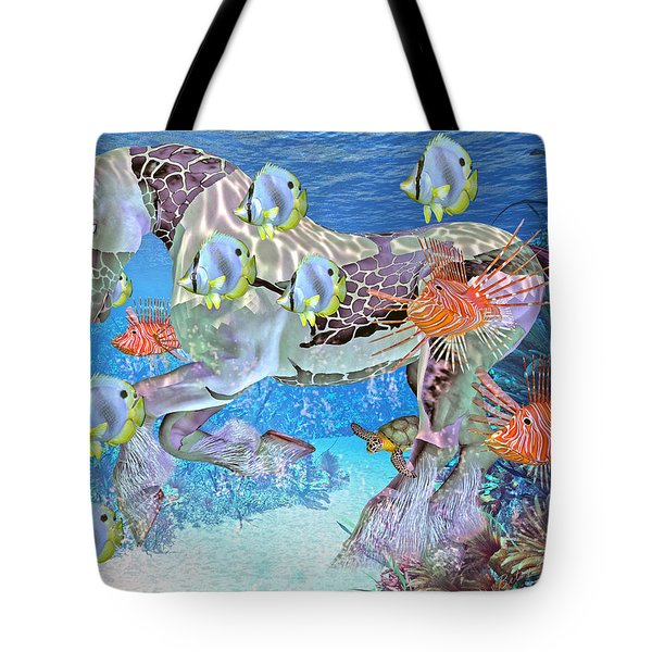 Under The Sea Iv Tote Bag by Betsy A  Cutler