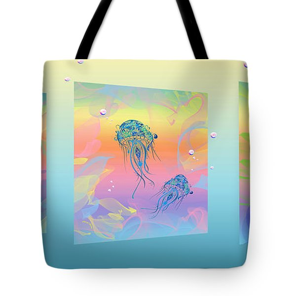 Under The Sea Triptych Tote Bag by Cheryl Young