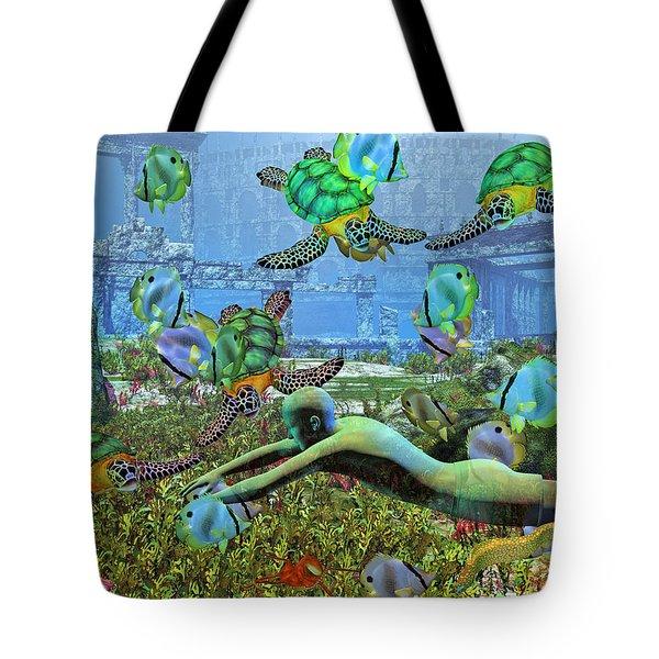 Under the Sea V Tote Bag by Betsy C  Knapp