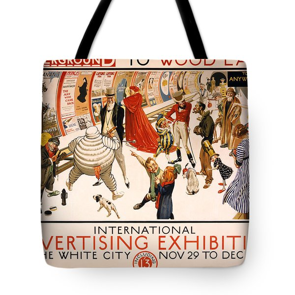 Underground to Wood Lane to Anywhere Tote Bag by Nomad Art And  Design