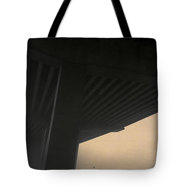 Underneath Decaying Decarie Autoroute Tote Bag by Roderick Chen