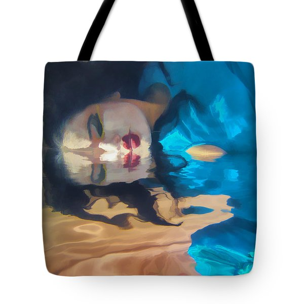 Underwater Geisha Abstract 1 Tote Bag by Scott Campbell