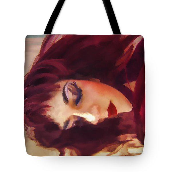 Underwater Geisha Abstract 3 Tote Bag by Scott Campbell