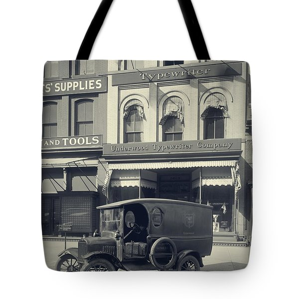Underwood Typewriter Factory Tote Bag by Edward Fielding