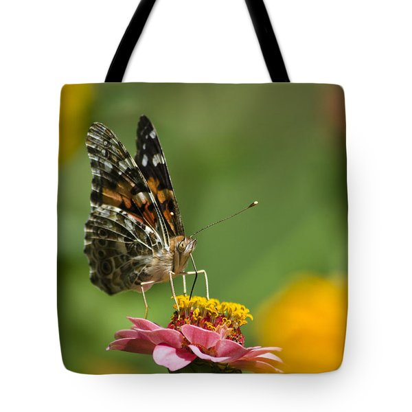 Unforgettable Lady Butterfly Tote Bag by Christina Rollo