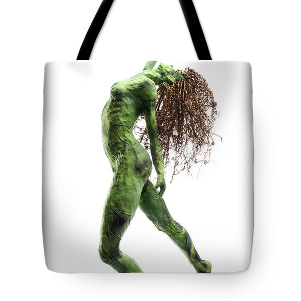 Unfurled Side View Detail Tote Bag by Adam Long