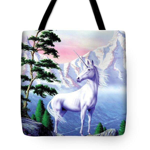 Unicorn The Land That Time Forgot Tote Bag by Garry Walton