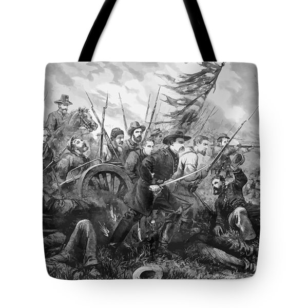 Union Charge At The Battle Of Gettysburg Tote Bag by War Is Hell Store