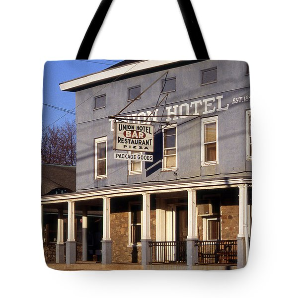 Union Hotel Tote Bag by Skip Willits