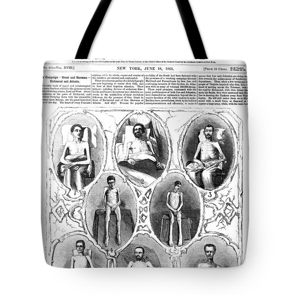 UNION SOLDIERS RELEASED  JUNE 1864 Tote Bag by Daniel Hagerman