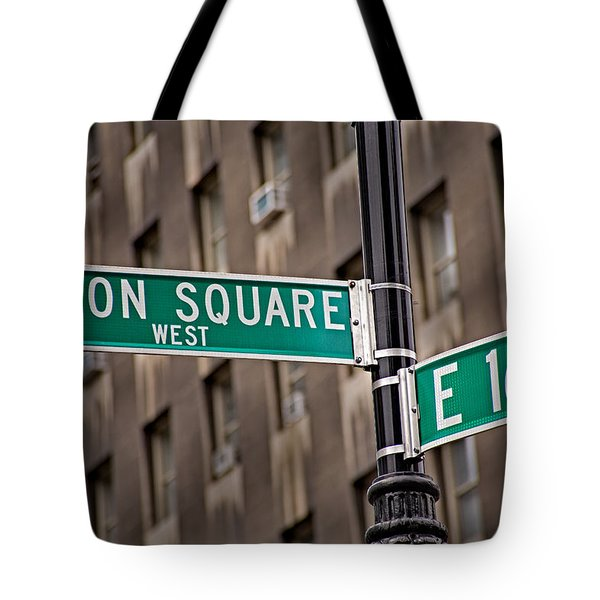 Union Square West I Tote Bag by Susan Candelario
