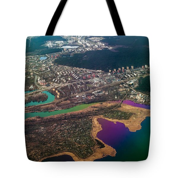 Unique Overview. Rainbow Earth Tote Bag by Jenny Rainbow