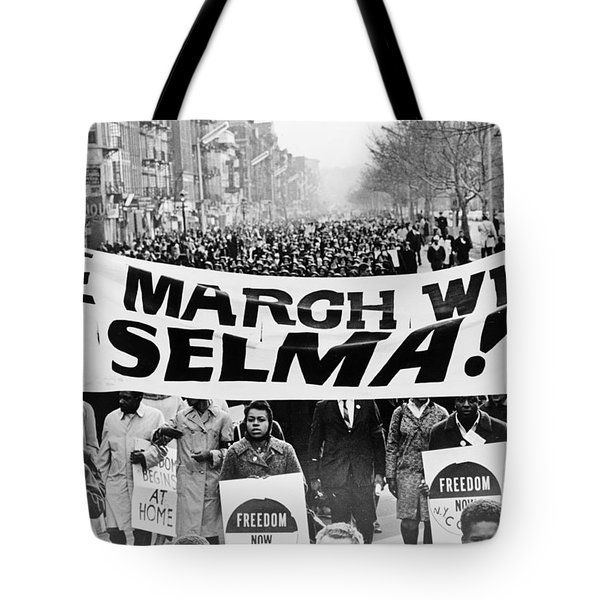 United for Justice Tote Bag by Benjamin Yeager