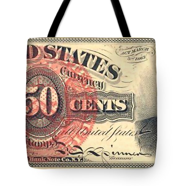United Stated 50 Cents Tote Bag by Lanjee Chee