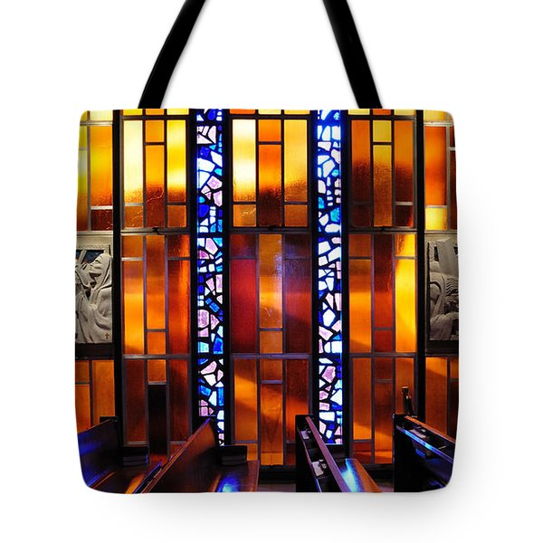United States Air Force Academy Cadet Chapel Detail Tote Bag by Vivian Christopher