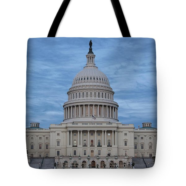 United States Capitol Building Tote Bag by Kim Hojnacki