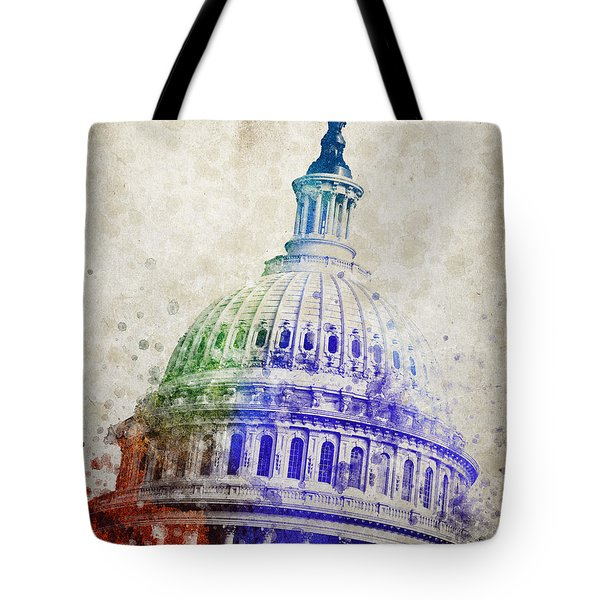 United States Capitol Dome Tote Bag by Aged Pixel