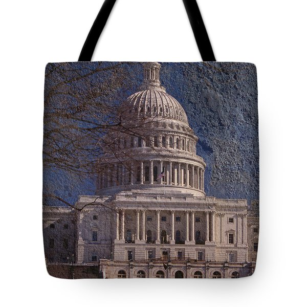 United States Capitol Tote Bag by Skip Willits
