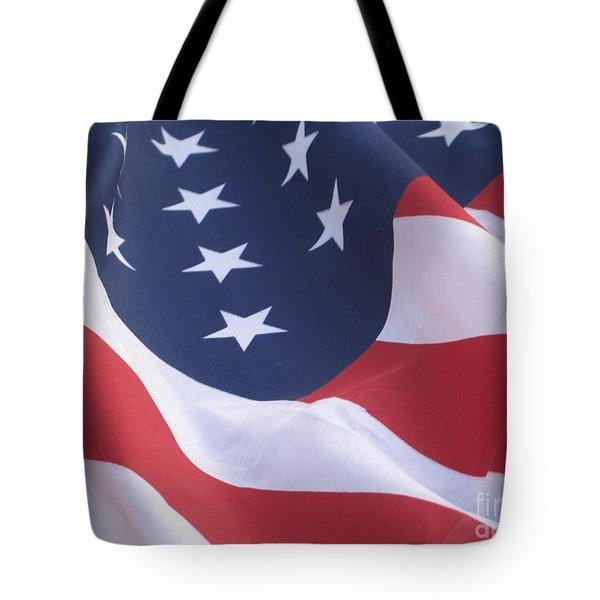 United States Flag  Tote Bag by Chrisann Ellis