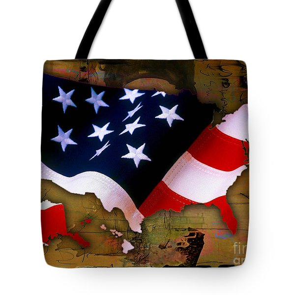 United States Map  Tote Bag by Marvin Blaine
