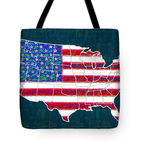 United States of America - 20130122 Tote Bag by Wingsdomain Art and Photography