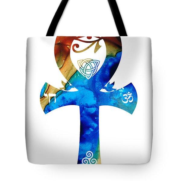 Unity 15 - Spiritual Artwork Tote Bag by Sharon Cummings