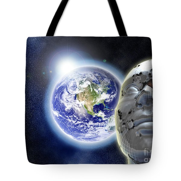 Alone In The Universe Tote Bag by Stefano Senise