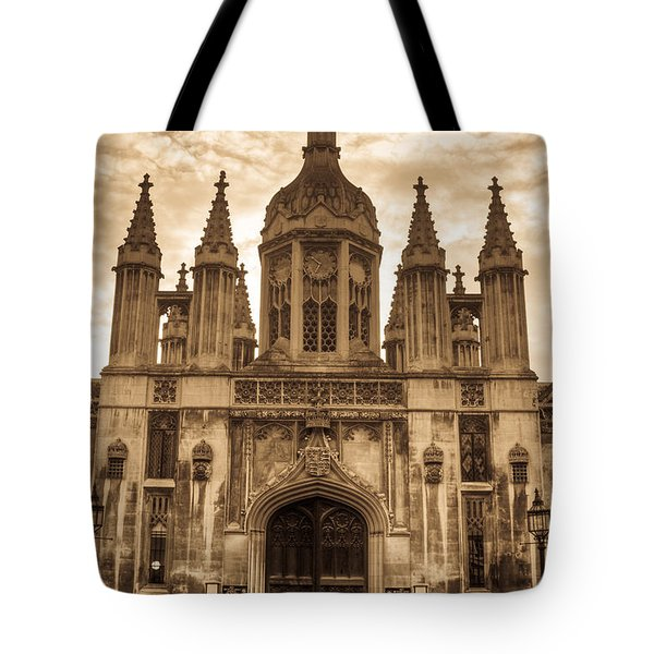 University Entrance Door Sepia Tote Bag by Douglas Barnett