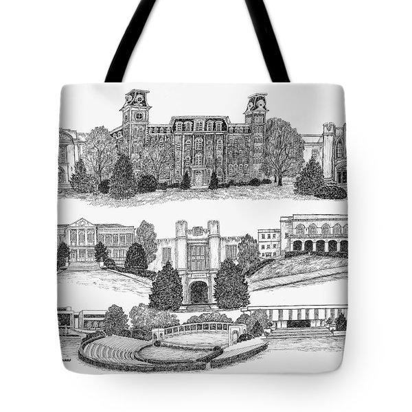 University Of Arkansas Fayetteville Tote Bag by Liz  Bryant