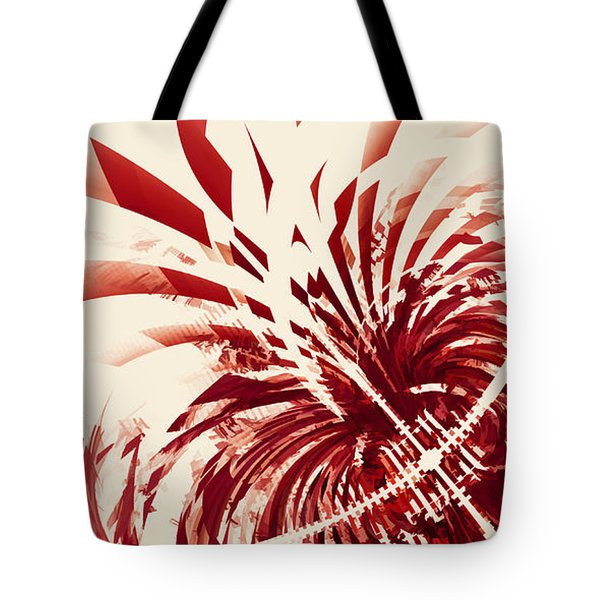 Untitled Red Tote Bag by Scott Norris