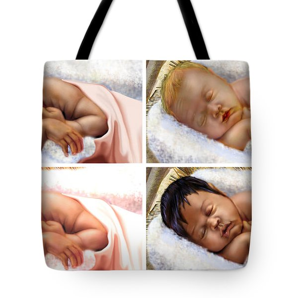 Unto The World A King Is Borne Tote Bag by Reggie Duffie