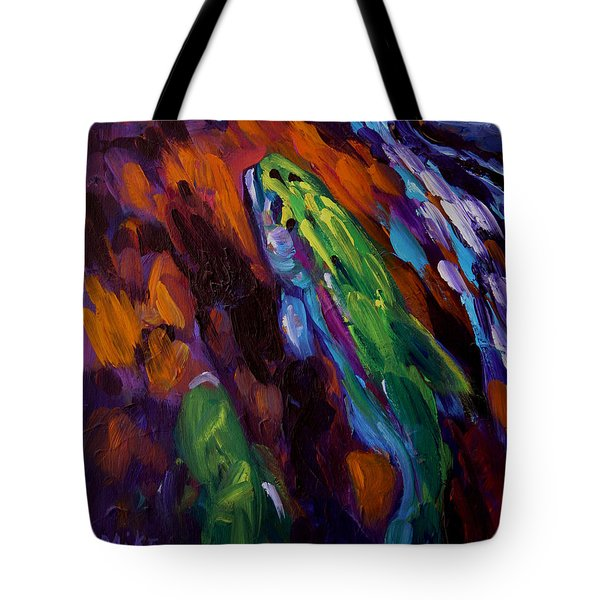 Up Stream Tote Bag by Savlen Art