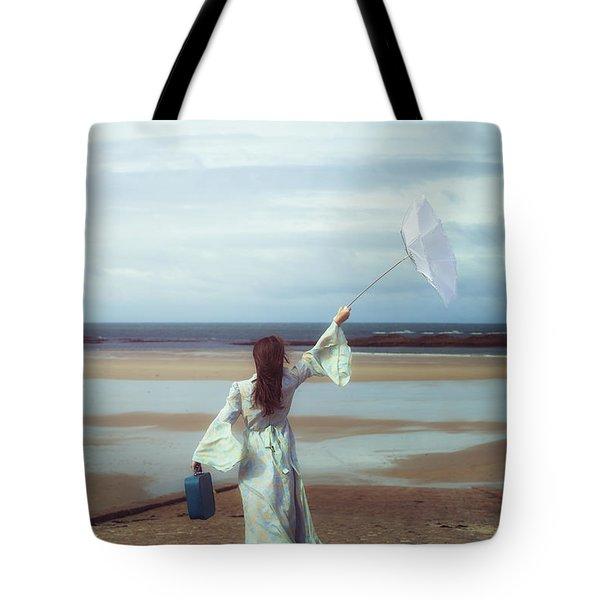 upended umbrella Tote Bag by Joana Kruse