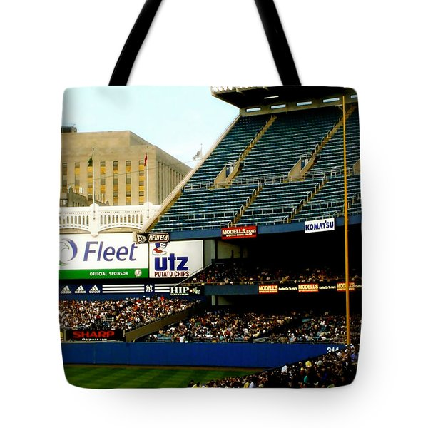 Upper Deck  The Yankee Stadium Tote Bag by Iconic Images Art Gallery David Pucciarelli