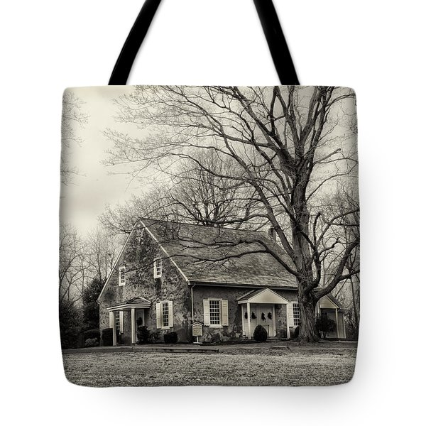 Upper Dublin Meetinghouse in Sepia Tote Bag by Bill Cannon