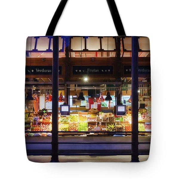 Upscale Mercado Tote Bag by Joan Carroll