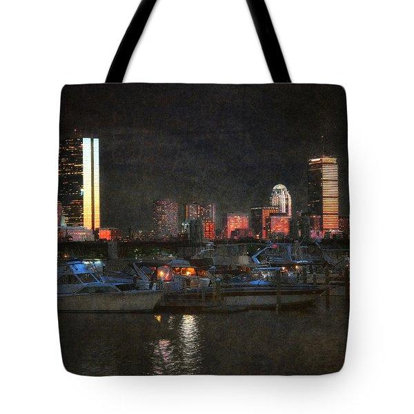 Urban Boston Skyline Tote Bag by Joann Vitali