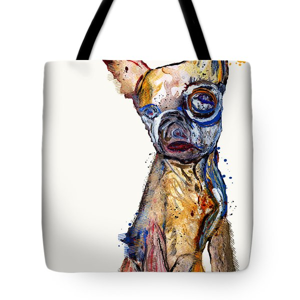 Urban Chihuahua Tote Bag by Bri Buckley